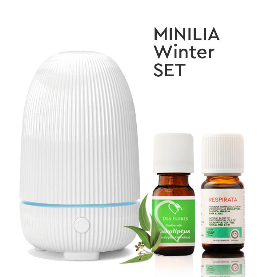 Dea Flores Minilia Winter set difuzor + Respirata i eukaliptus eterično ulje